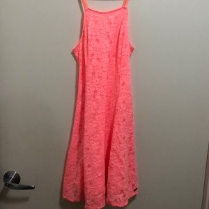 Hollister coral swing dress